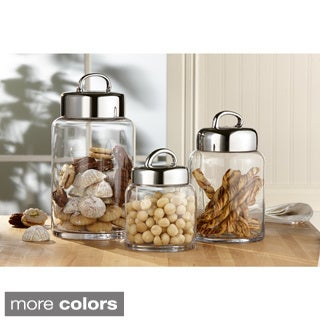 American Atelier 3-piece Glass Canisters and Lids Set