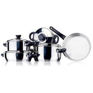 Korkmaz Orbit Capsulated 9-piece Cookware Set with Bakelite Handle