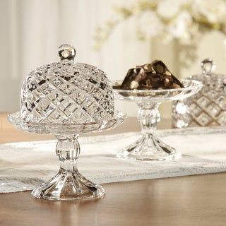 Fifth Avenue Muirfield Crystal Pedestal Plate with Dome Lid