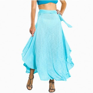 Jordan Taylor Women's Aqua Tulum Maxi Skirt