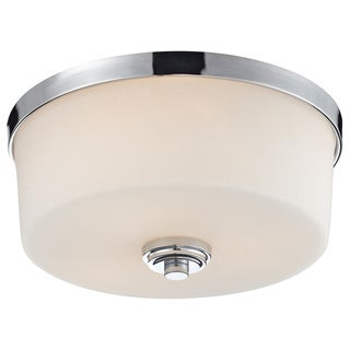 Z-Lite Lamina Chrome 3-light Flush-mount Light