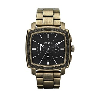 Fossil Men's Machine Antiqued Goldtone Analog Watch