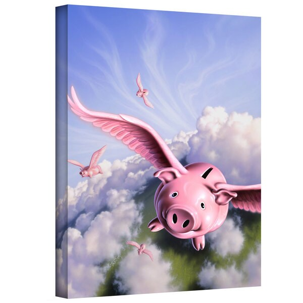 Jerry LoFaro 'Piggies' Gallery-Wrapped Canvas