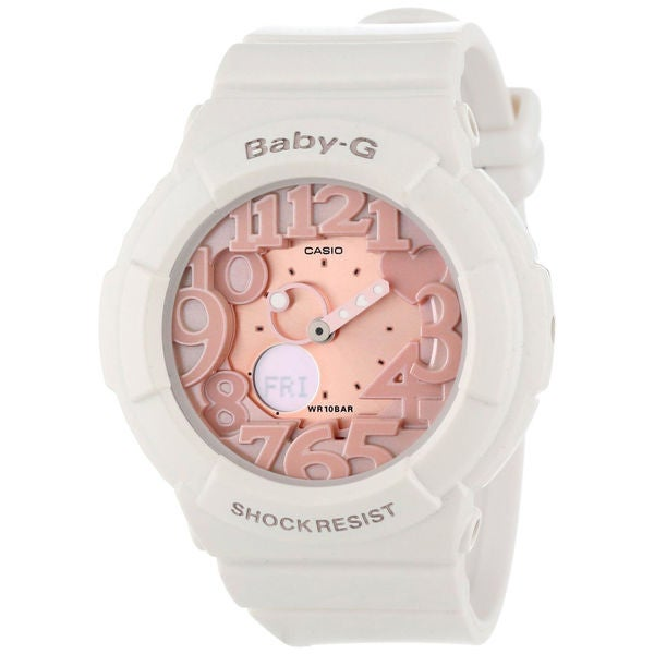 Casio Women's 'Baby-G' Pink/ White Quartz Watch