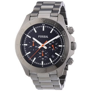 Fossil Men's CH2864 'Retro Traveler' Black Dial Stainless Steel Watch