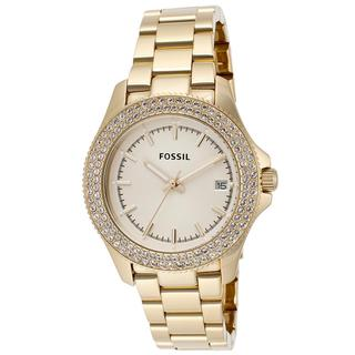 Fossil Women's AM4453 'Retro Traveler' Goldtone Watch