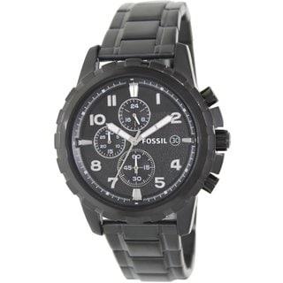 Fossil Men's 'Dean' Black Quartz Stainless Steel Watch