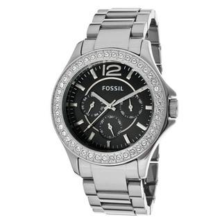 Fossil Women's 'Riley' Chrome Ceramic Bracelet Watch