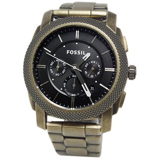 Fossil Men's 'Machine' Goldtone Stainless Steel Watch