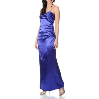 Blondie Nites by Stacy Sklar Juniors Sapphire Halter Dress