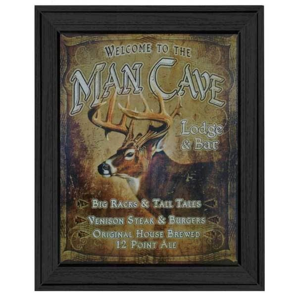 'Man Cave' Framed Tin Sign