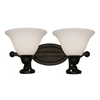 Z-Lite Carlisle 2-light Bronze/ Matte Opal Glass Wall Sconce