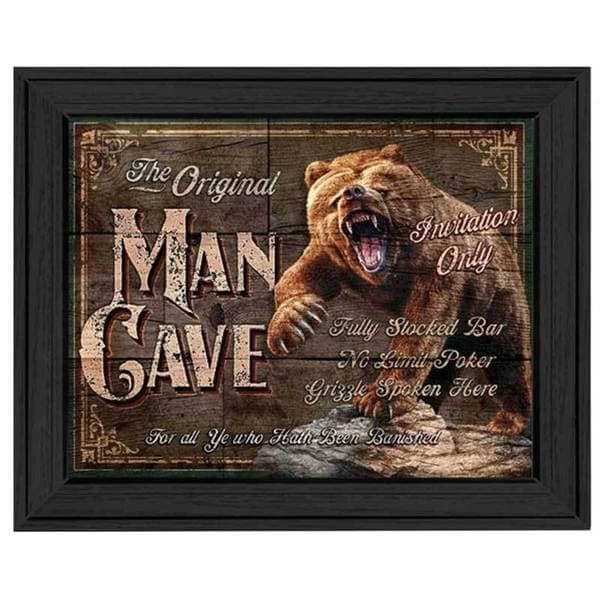 'Original Man Cave...Invitation Only' Framed Tin Sign