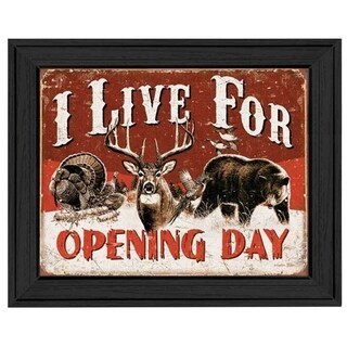 'Opening Day' Framed Tin Sign