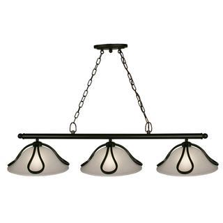 Z-Lite Carlisle 3-light Bronze Billiard Light