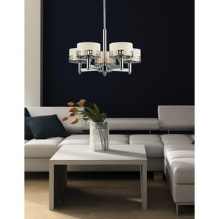 Z-Lite Elea 5-light Chrome Chandelier