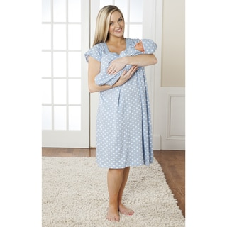 Baby Be Mine Nursing Nightgown with Romper in Nicole