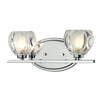 Z-Lite Hale 2-light Chrome Vanity Light