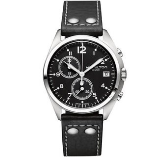Hamilton Men's Khaki Pilot Pioneer Chronograph Black Watch