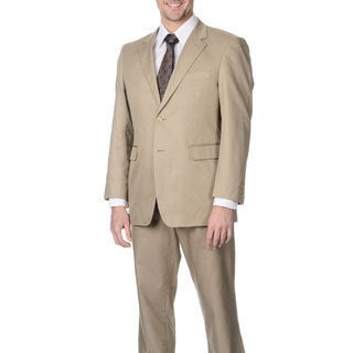 Nautica Men's Khaki 2-button Notch Collar Jacket