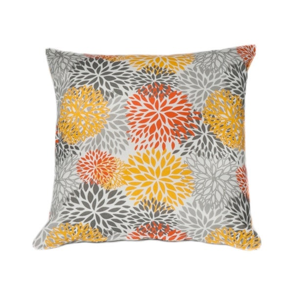 Contemporary Floral Square Indoor/ Outdoor Throw Pillow