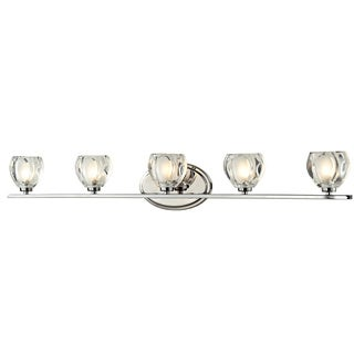 Z-Lite Hale 5-light Chrome Vanity Light