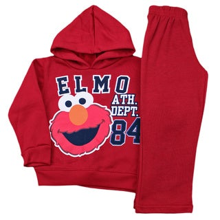 Elmo Baby Boy's Red Jersey 2-piece Hoodie Set