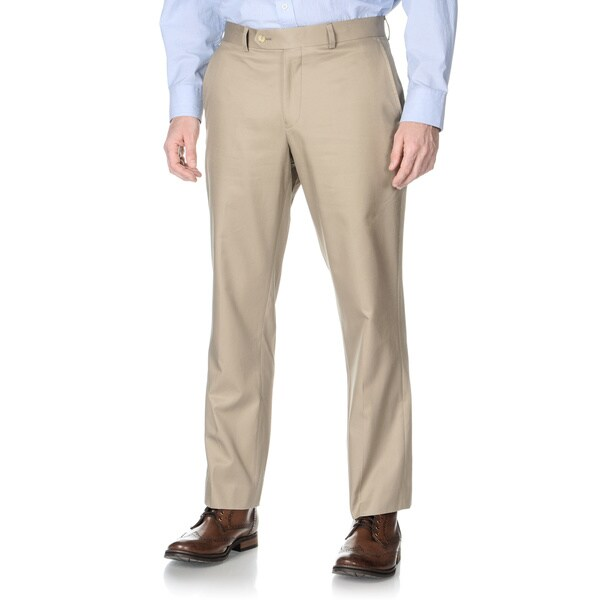 Nautica Men's Khaki Flat-front Pants