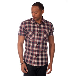 Something Strong Men's Plaid Short Sleeve Slim Fit Shirt