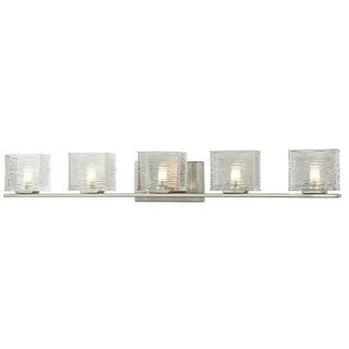Z-Lite Jaol 5-light Brushed Nickel Vanity Light