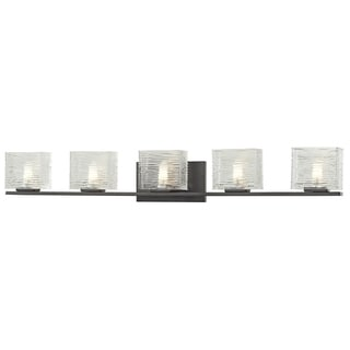 Jaol Bronze 5-light Vanity Light with Clear Glass