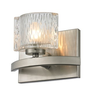 Rai Brushed Nickel 1-light Vanity Light with Clear Glass