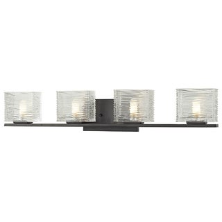 Z-Lite Jaol Bronze 4-light Vanity Light with Clear Glass