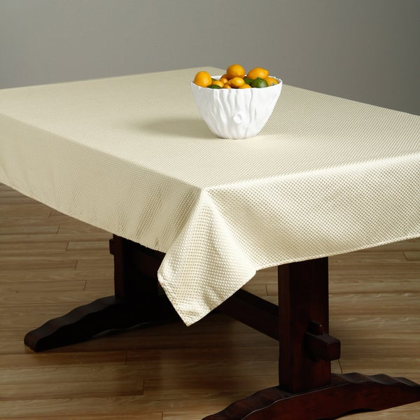 Prego Taupe Waffle-weave Tablecloth