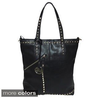 Michael Michelle 'Everdeen' Tall Studded Tote