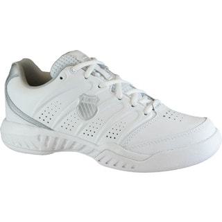 K-Swiss Women's 'UltrAscendor II' White/ Silver Tennis Shoes