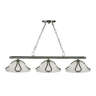 Carlisle 3-light Brushed Nickel Island/ Billiard Light Fixture