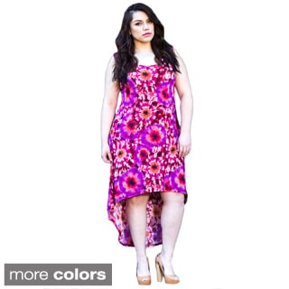 Sealed With a Kiss Women's Plus Size 'Irene' Tie-dyed High-low Tank Dress