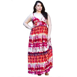 Sealed With a Kiss Women's Plus Size 'Quinn' Tie-dye Maxi Dress