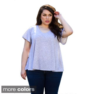 Sealed With a Kiss Women's Plus Size 'Alice' Solid Knit Top
