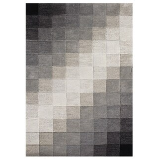 Handmade Alliyah Black Woll Rug (9' x 12')