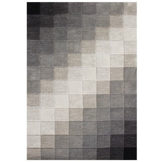 Handmade Alliyah Black Wool Area Rug (8' x 10')