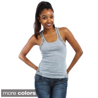 Lyss Loo Women's Lace-back Tank Top