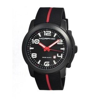 Morphic Men's M21 Series Black Silicone Black Analog Watch