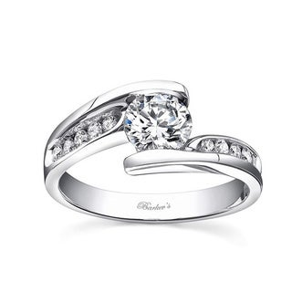 Barkev 14k White Gold 1 1/6ct TDW Engagement Ring (F-G, SI1-SI2)