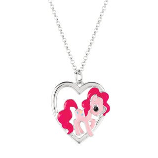 Silverplated Pinkie Pie My Little Pony Pendant Necklace