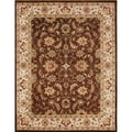 Alliyah Hand Made Chocolate Brown 100 Percent New Zeeland Wool Rug (9' x 12')