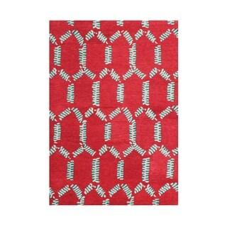 Handmade Alliyah Mandarin Red Wool Rug (8' x 10')