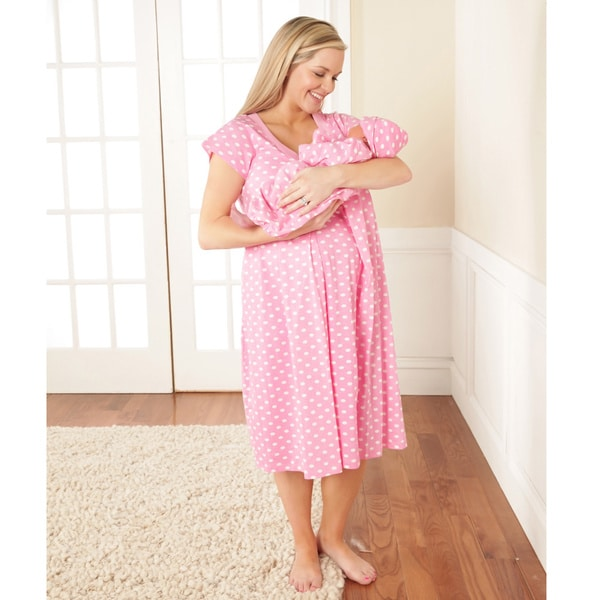 Baby Be Mine Nursing Nightgown Set in Molly
