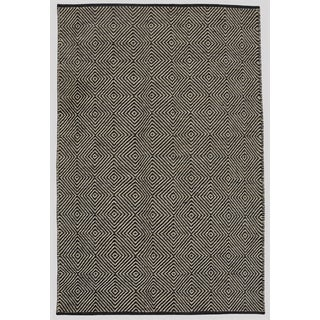 Hand-woven Black Jute Rug (8' x 11')